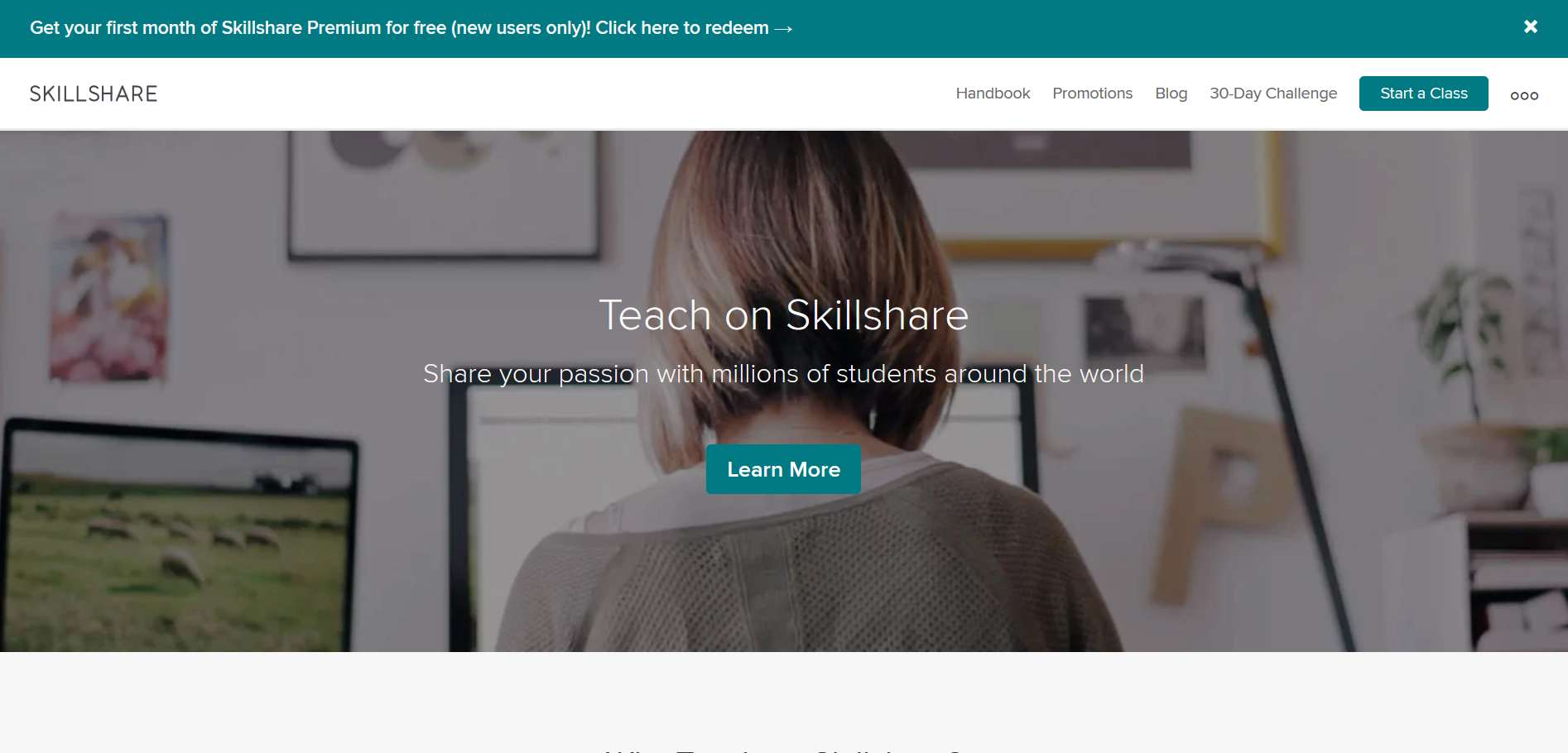 Teach Online And  Share Your Skills on Skillshare